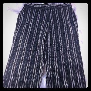 Casua beach pants striped large pull on elastic wa
